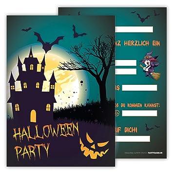 12 Einladungskarten Gruselig Schaurig Set Kindergeburtstag Party Halloween  Party Kinder Erwachsene Geburtstagseinladungen Karten Monster Einladungen