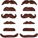 WeAreAwesome Das Bartset - Set 7 – Bärte zum Ankleben - Braun