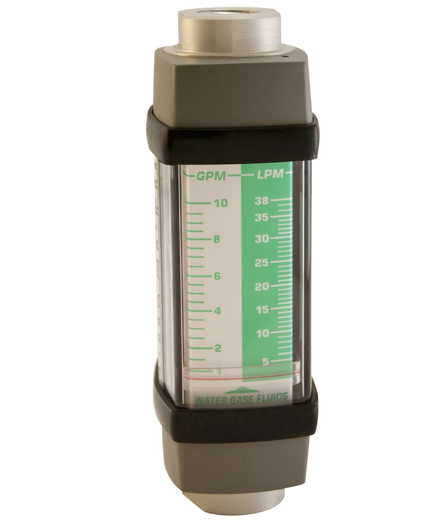 Hedland H613A-010 Flowmeter, Aluminum, For Use With Water-Based Fluids, 1 - 10 gpm Flow Range, 1/2'' NPT Female
