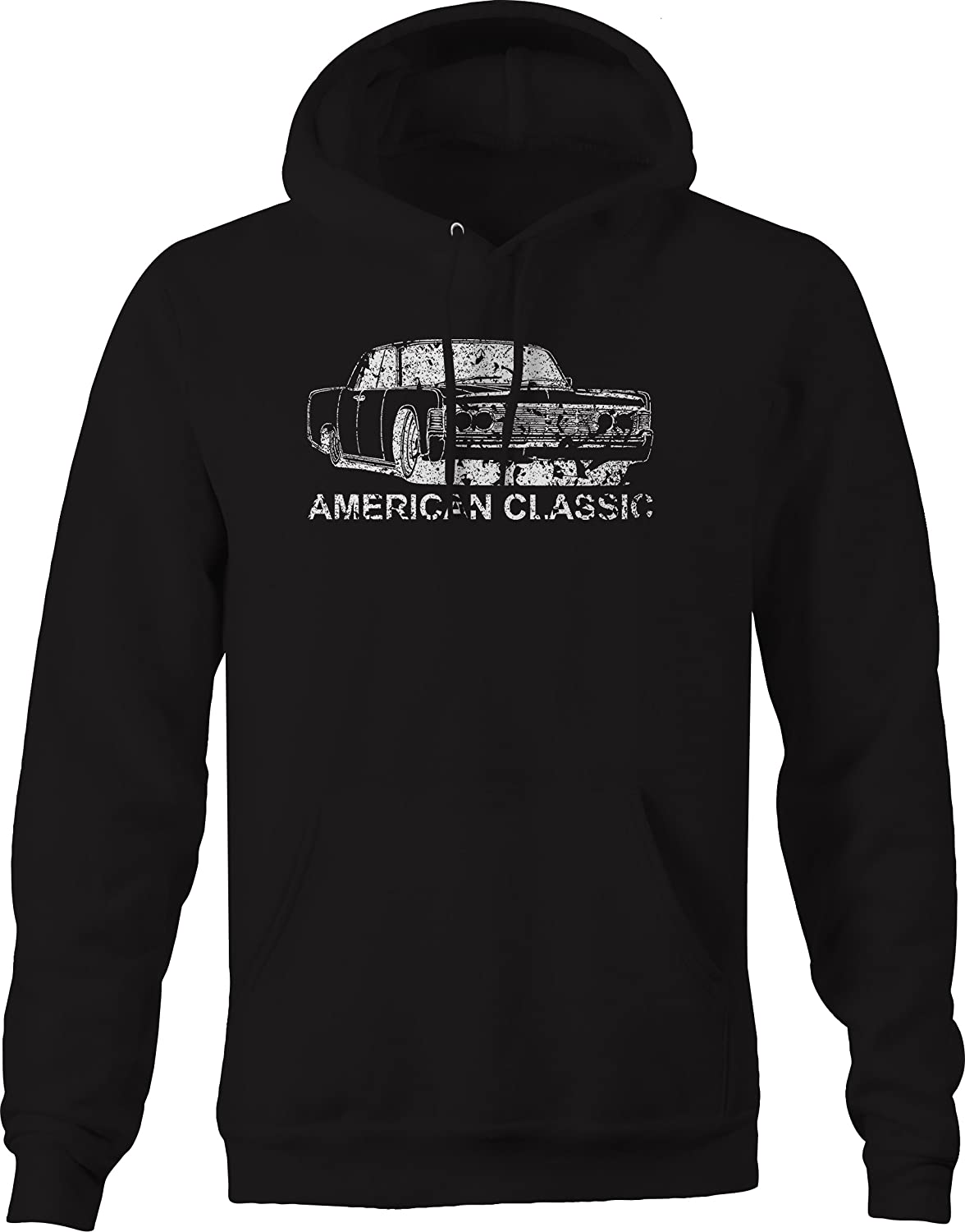Vintage Classic Lincoln Continental Suicide Doors Graphic Hoodie for Men