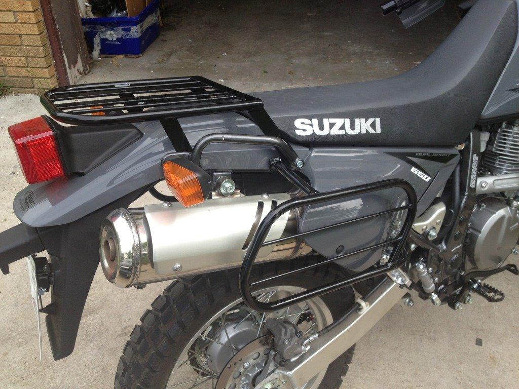 Dirtracks Rear Rack and Softbag Side Racks for Suzuki DR650 1996-2016