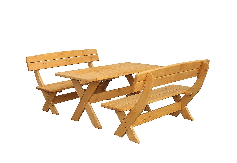 Promadino Holz-Garnitur München honigbraun