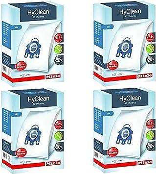 Authentique 4 Miele HyClean 3D Efficacité Sac GN /& 2 Filtres et 5 Bleu assainisseurs d/'
