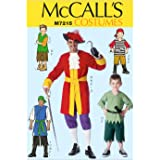 McCall's Patterns M7215 Men's/Children's/Boys' Costumes Sewing Template, MEN (SML-MED-LRG-XLG)