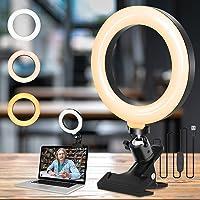 """NANONAN Pierścień światło do telefonu laptopa, 6"""" mini pierścień światło USB z klipsem uchwyt zaciskowy 3 tryby światło…"""