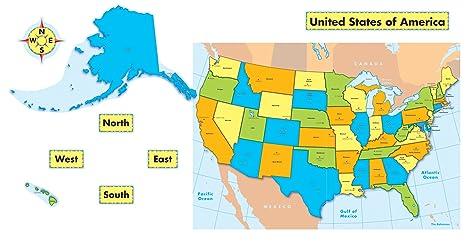 Amazon.com : Carson Dellosa United States Map Bulletin Board Set ...