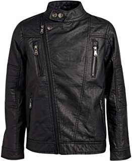 Amazon.com: Urban Republic Boys Faux Leather Officer Jacket ...