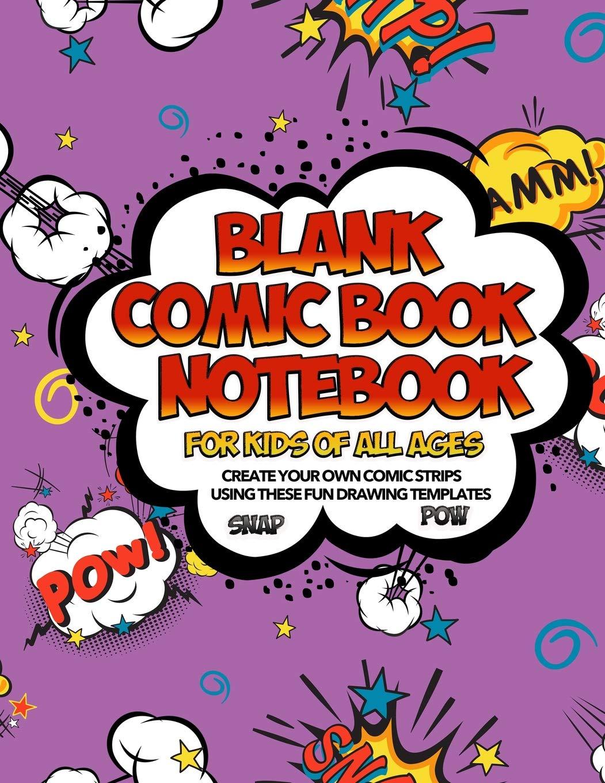 Blank Comic Book Notebook Pow Comic