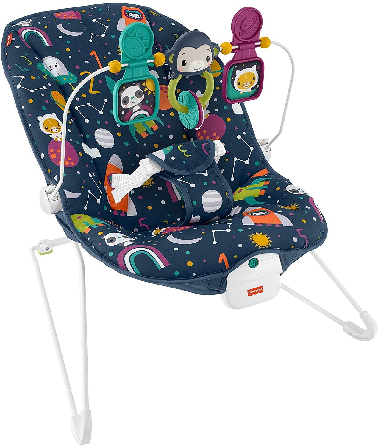 Fisher-Price Baby's Bouncer Soothing Seat Astro-Kitty, Soothing Bouncing Chair for Infants