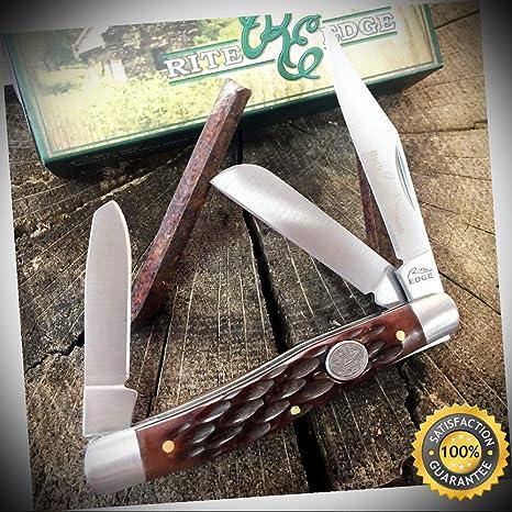Amazon.com: Rite Edge 210574-BX - Cuchillo de bolsillo con 3 ...