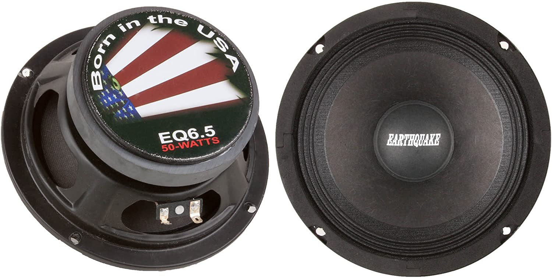 Earthquake Sound PR-EQ6S8 6.5-inch 8-Ohm Cloth Surround Speakers Pair Sealed Basket 200 Watts Max
