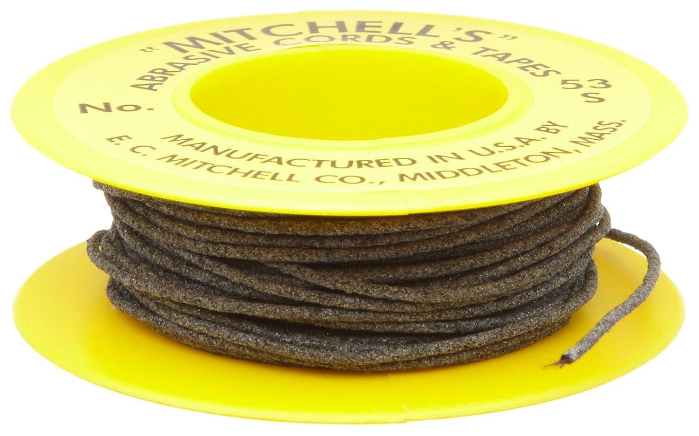 Mitchell Abrasives 53 Round Abrasive Cord Aluminum Oxide 180 Grit .040 Diameter x 50 Feet