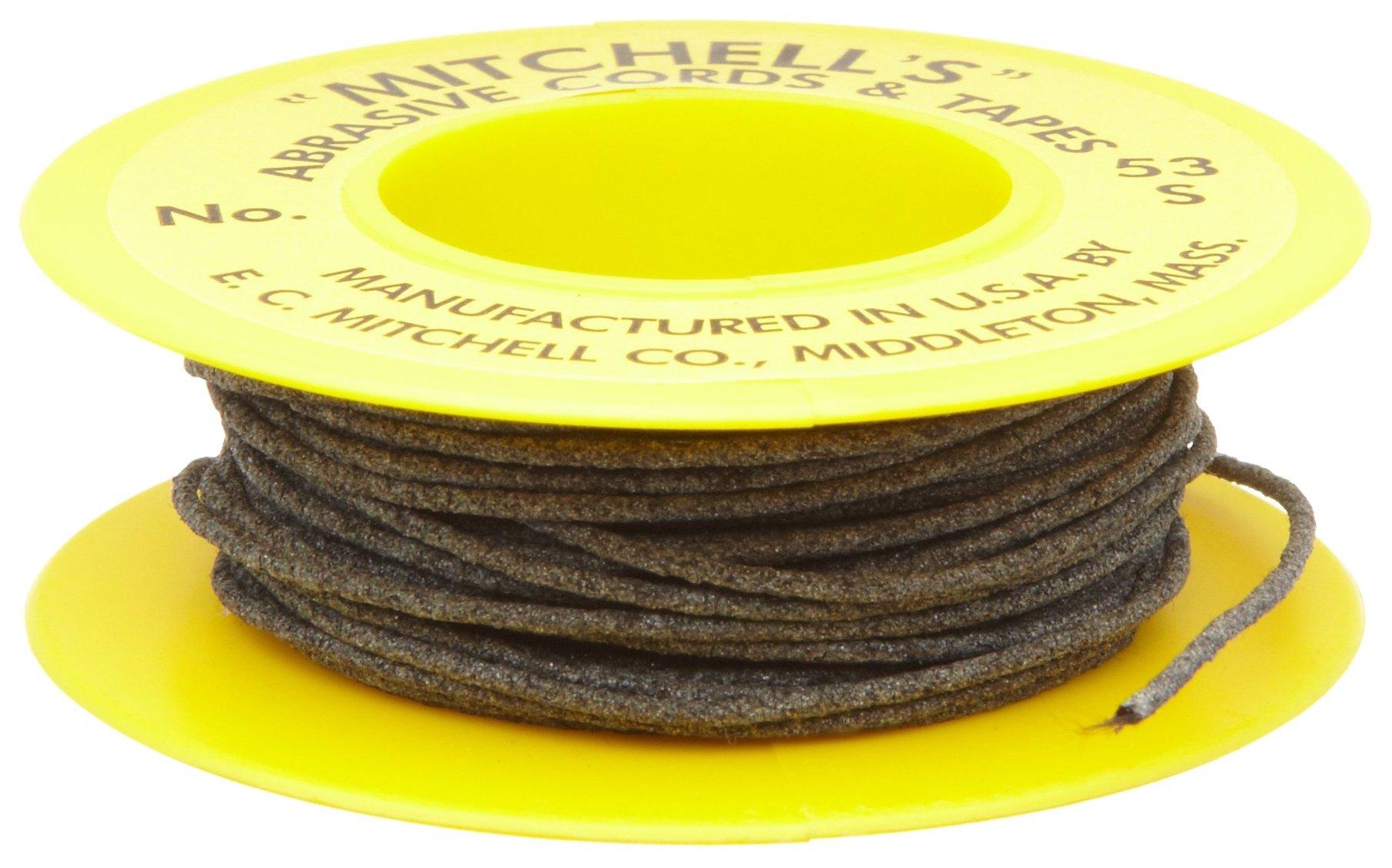 Mitchell Abrasives 53-S Round Abrasive Cord, Silicon Carbide 180 Grit .040'' Diameter x 25 Feet by Mitchell Abrasives