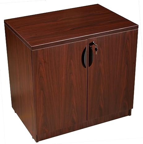 Boss Storage Cabinet, Mahogany