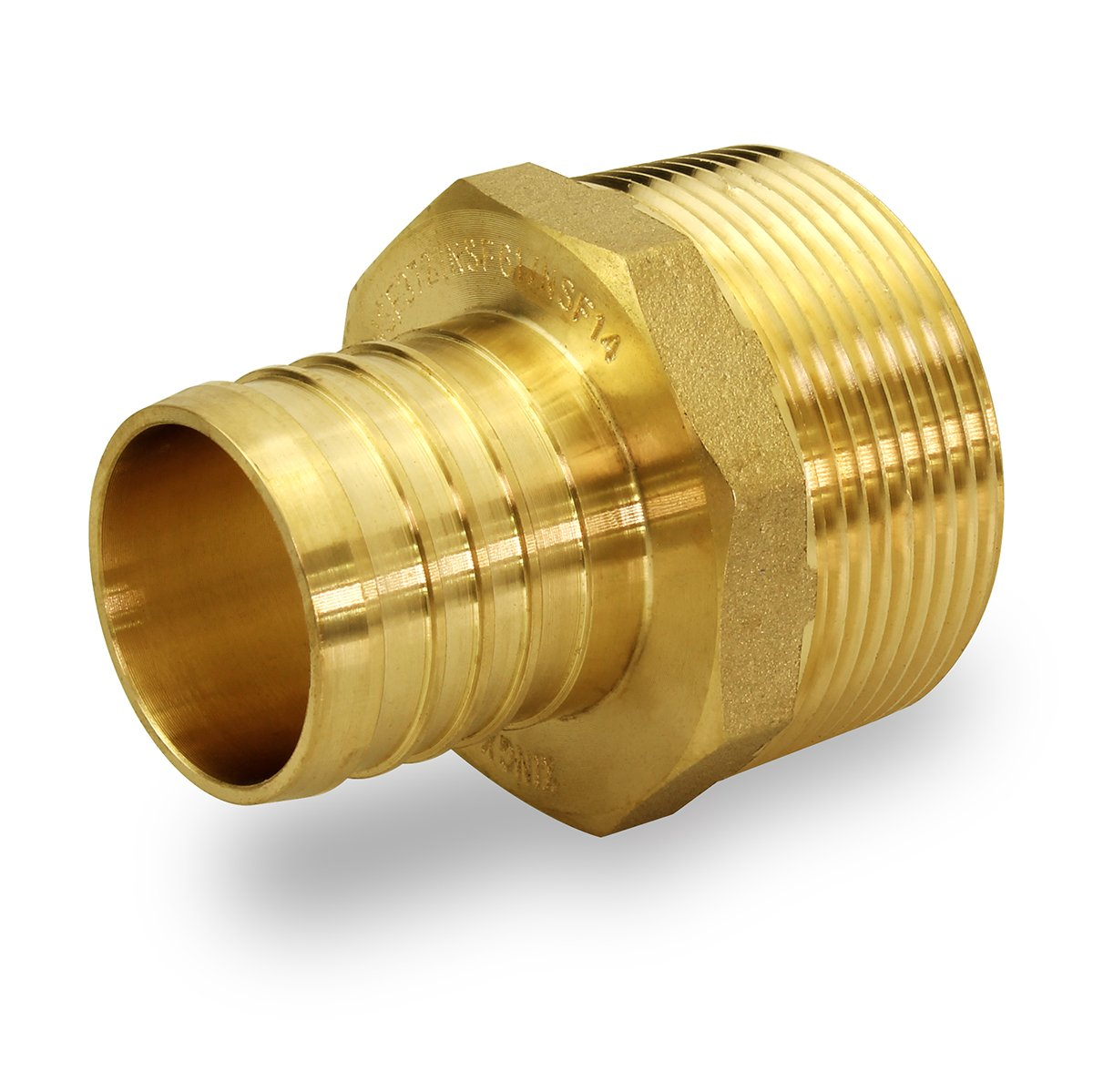 "EPMA1034-NL Brass Fitting 1/"" PEX x 3//4/"" Male MIP thread Adapter"