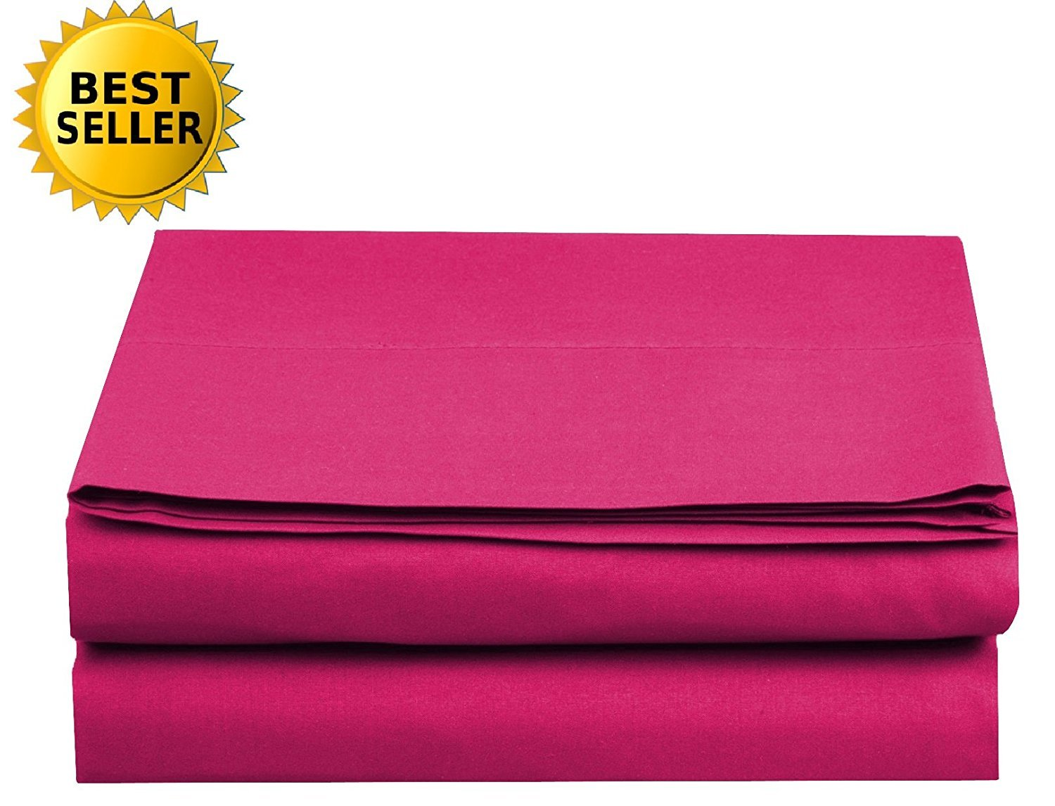 Luxury Fitted Sheet on Amazon! - HIGHEST QUALITY Elegant Comfort Wrinkle-Free 1500 Thread Count Egyptian Quality 1-Piece Fitted Sheet, King Size, Pink