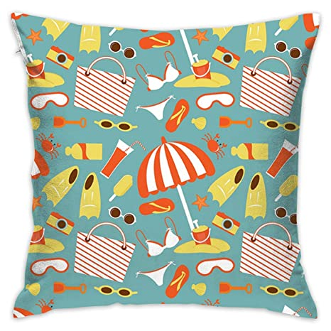 Go to Beach On Vacation Throw Pillow Covers Decorative ...