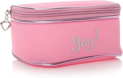 Shruti Ag Ta Daa - Estuche para cosméticos (16 cm), color rosa: Amazon.es: Belleza