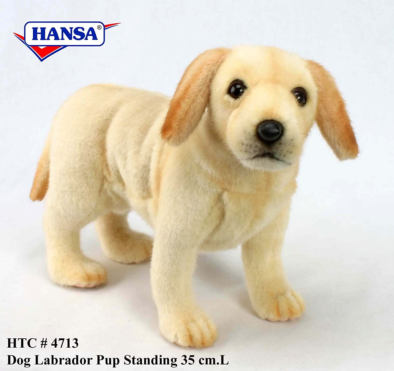 "Amazon Yellow Lab Puppy Standing Plush Toy 14"" L Toys & Games"