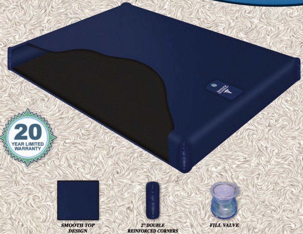 Free Flow Fluid Chamber Series 100 Mid Fill Softside Waterbed Bladder by Innomax King by Innomax Waterbed Bladder