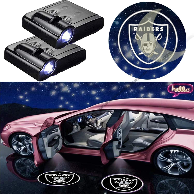 2pcs Oakland Raiders Logo Car Door Lamp LED Laser Projector Ghost Shadow Light