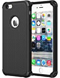 Celkase (360 Degree Potection) Armor Tough Protective Case For Iphone 6Splus Cover Iphone 6Plus Shockproof Back (Black)