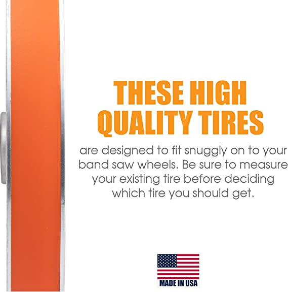 "6 1//2 x 1//2/"" uréthane bande scie pneus HEAVY DUTY .095 THICK 2 pneu set"
