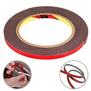 CANOPUS 10 Millimeter by 32 Feet, Double Sided Tape, Heavy Duty Mounting Strips, Adhesive Waterproof Foam Tape