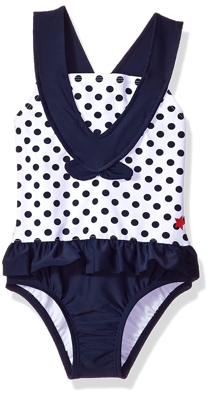 Kiko & Max Girls' Little One-Piece Peplum Bathing Swim Suit