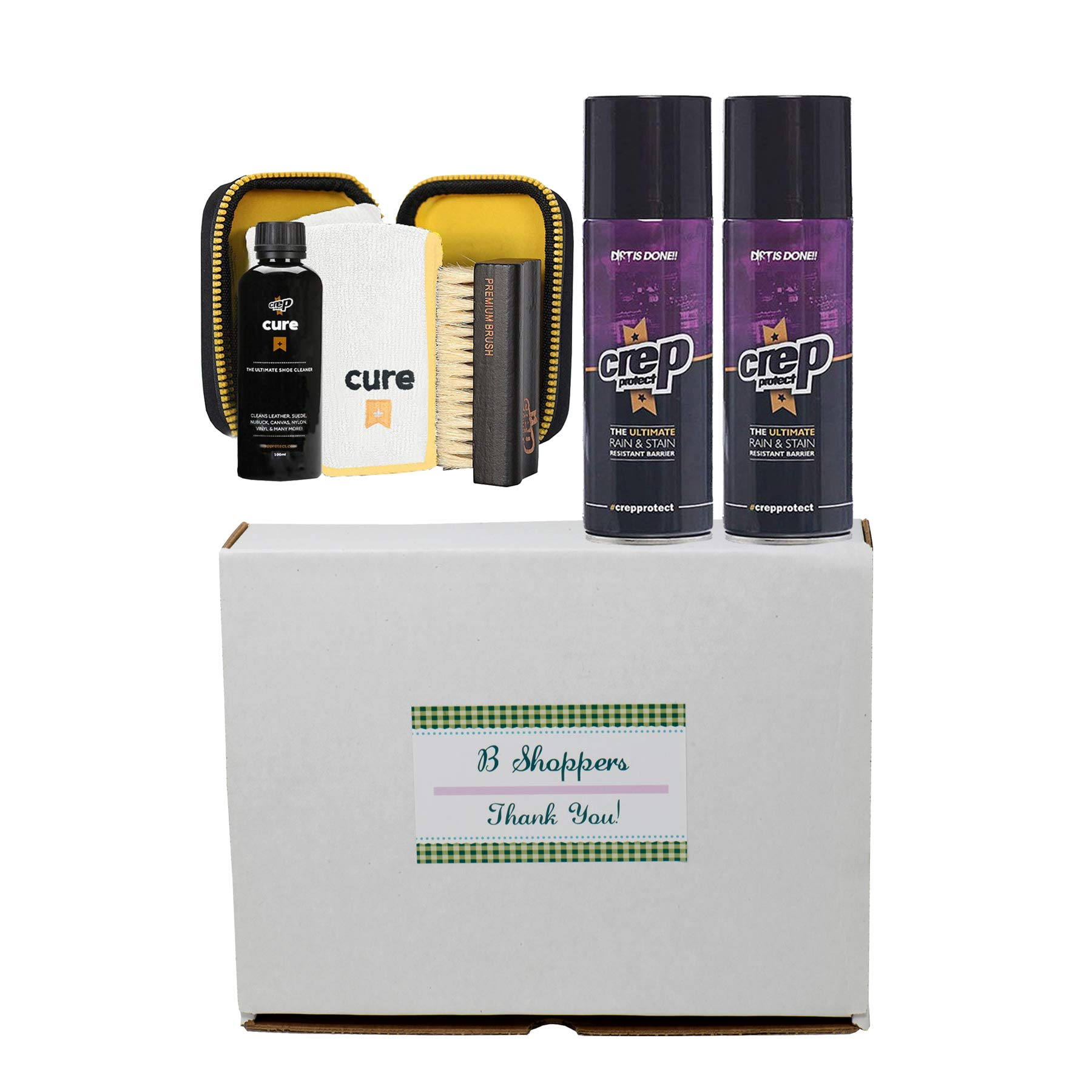 Crep Protect Ultimate Rain & Stain Shoe (Bundle Gift Packs) (One Size, 2 Sprays+1 Cure W/Gift Box)