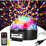 SOLMORE 舞台照明 9色LED ステージ/ ディスコ/パーティー/KTV/カラオケ/クラブ/バー照明用ライト 回転ライト 水晶魔球 音声制御 MP3プレー リモコン付き AC 110V-240V