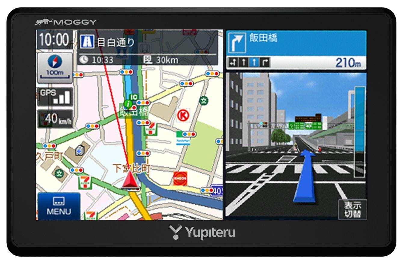 ユピテル 5インチ ポータブルカーナビ ワンセグ オービス情報/マップル旅行ガイドブック130冊分収録 2018年最新地図 YPB554 B07CBPNS28