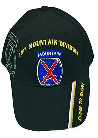 2ddc0b76519 U.S. Army Division and Brigade Baseball Caps Quality Embroidered Hats (10th  Mountain Division Climb to