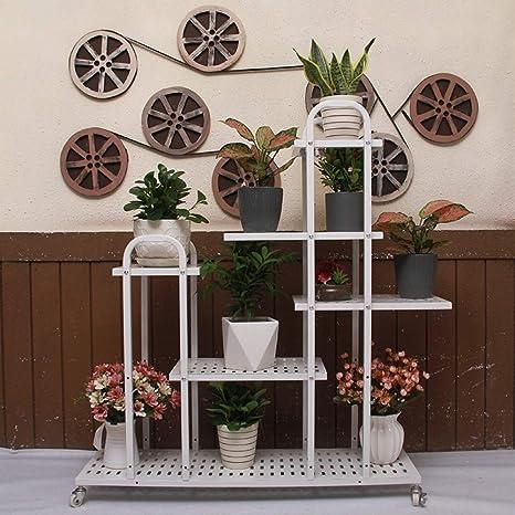 HBY American Flower Rack Plantas De Interior De Hierro Forjado De ...