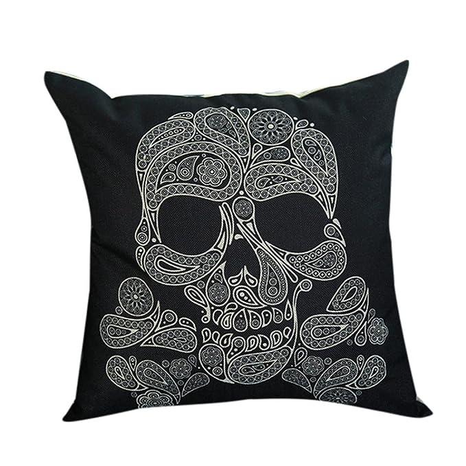 ronamick almohada funda de cojín 45 x 45 cráneo Print ...