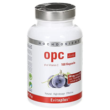OPC DAILY OPC Extracto de Semilla de Uva – 160 cápsulas de OPC 700 mg diario