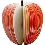 SODIAL (R)Bloc Notes Memo 140 Feuille Forme 3D Pomme Rouge Fruit 9x10cm