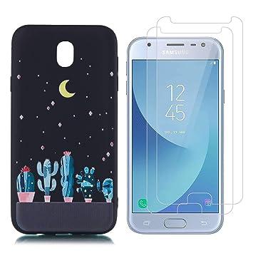 Funda Samsung Galaxy J3 2017 Cactus Lunar Suave TPU Silicona ...