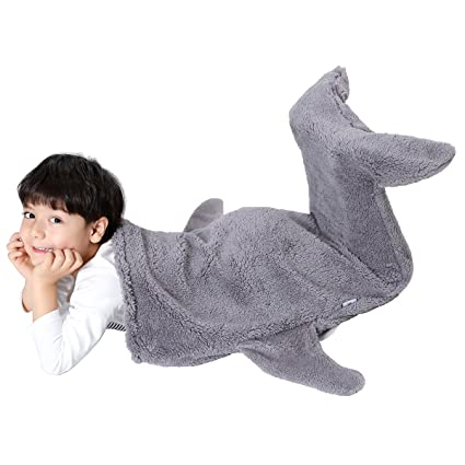 SINOGEM Manta de Tiburón Saco de Dormir Cálida y Suave de Animales de Peluche para Navidad