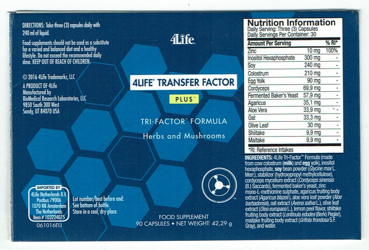 4life Transfer Factor Plus Tri Formula 90 Capsulesoriginal Advance Trifactor Capsules Original The Strongest