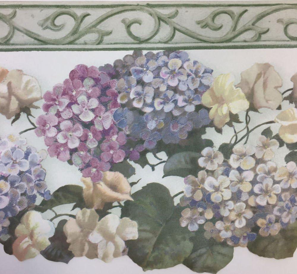 Laser Cut Hydrangea With Crown Wallpaper Border Waverly No 576501