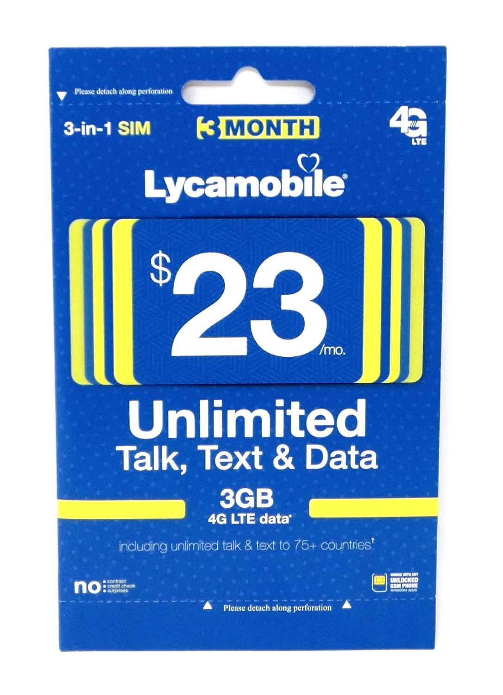 Amazon.com: Lycamobile $23 Plan tarjeta SIM de Prepago ...
