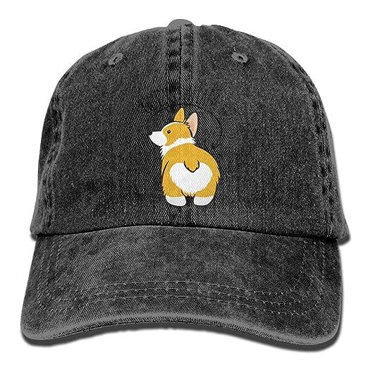120d2c1eabebc Image Unavailable. Image not available for. Color  Guess What Corgi Butt  Denim Hat ...
