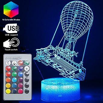 Amazon.com: Lámpara 3D LED de ilusión de luces nocturnas RGB ...