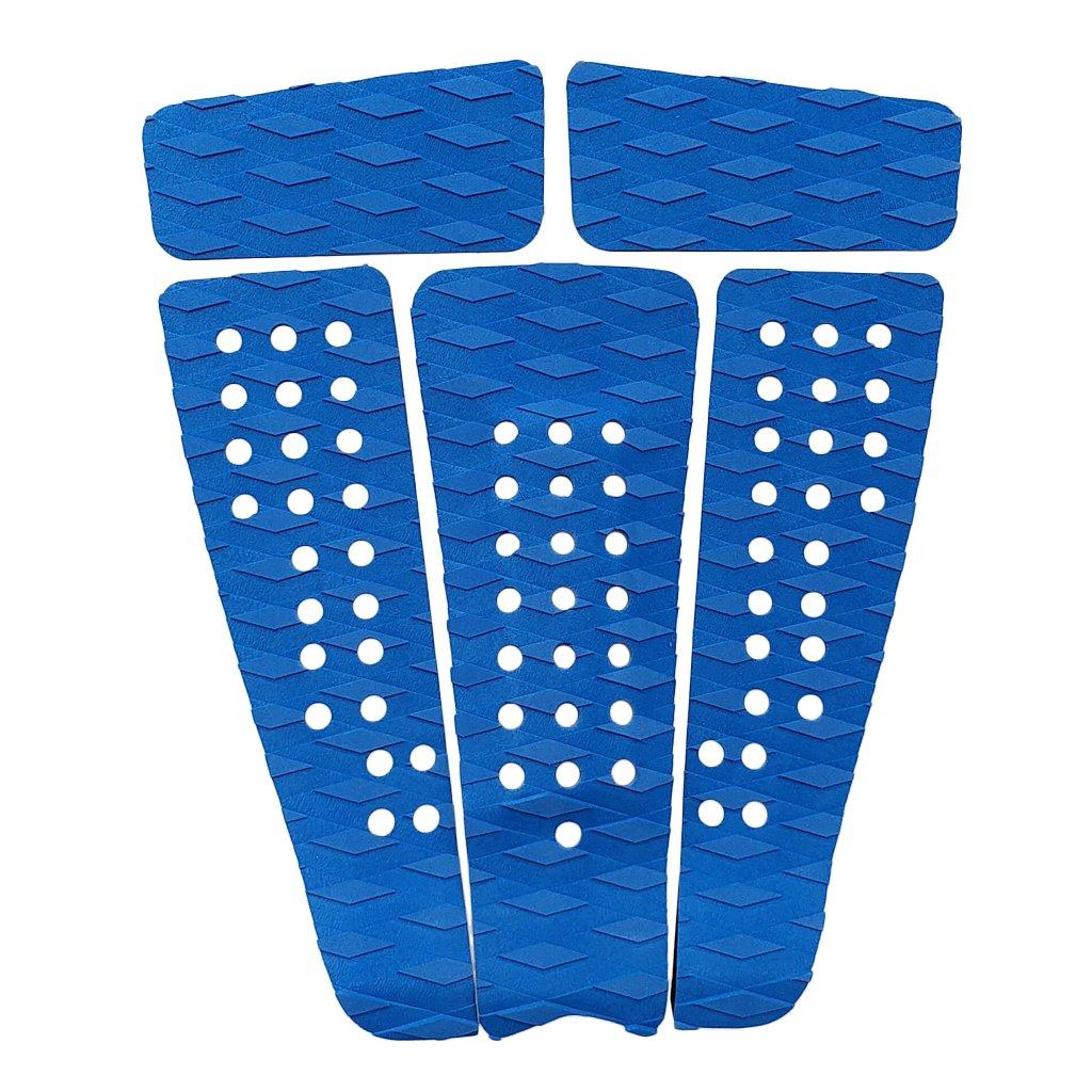 prettyia Lot 5サーフボードEva足Traction Padテールパッドfor SUPサーフィンボートデッキ – 強力な粘着、ノンスリップ、カスタマイズ可能、万能& Trimmable  ブルー B07F6YLYDD