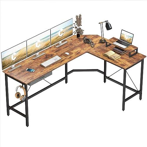 Cheap CubiCubi L-Shaped Desk Computer Corner Desk modern office desk for sale