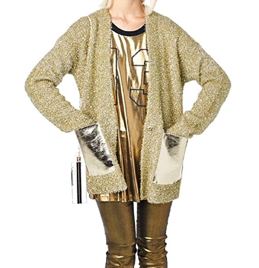 Amazon.com: Tov Women's Sparkle Sequin Metallic Gold Party Long ...