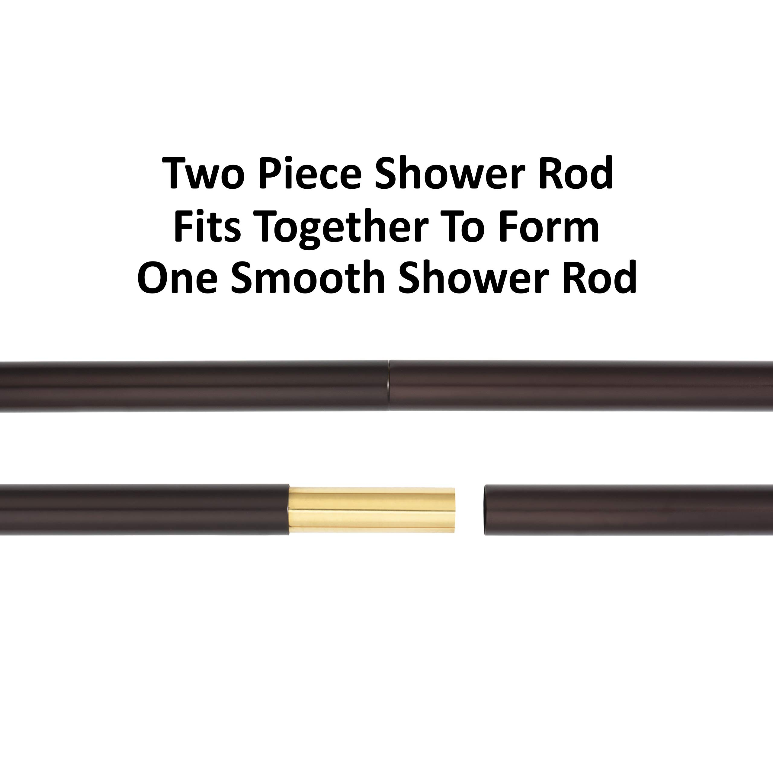 Dynasty Hardware DYN-SR72-ORB Shower Rod, 72 Inch