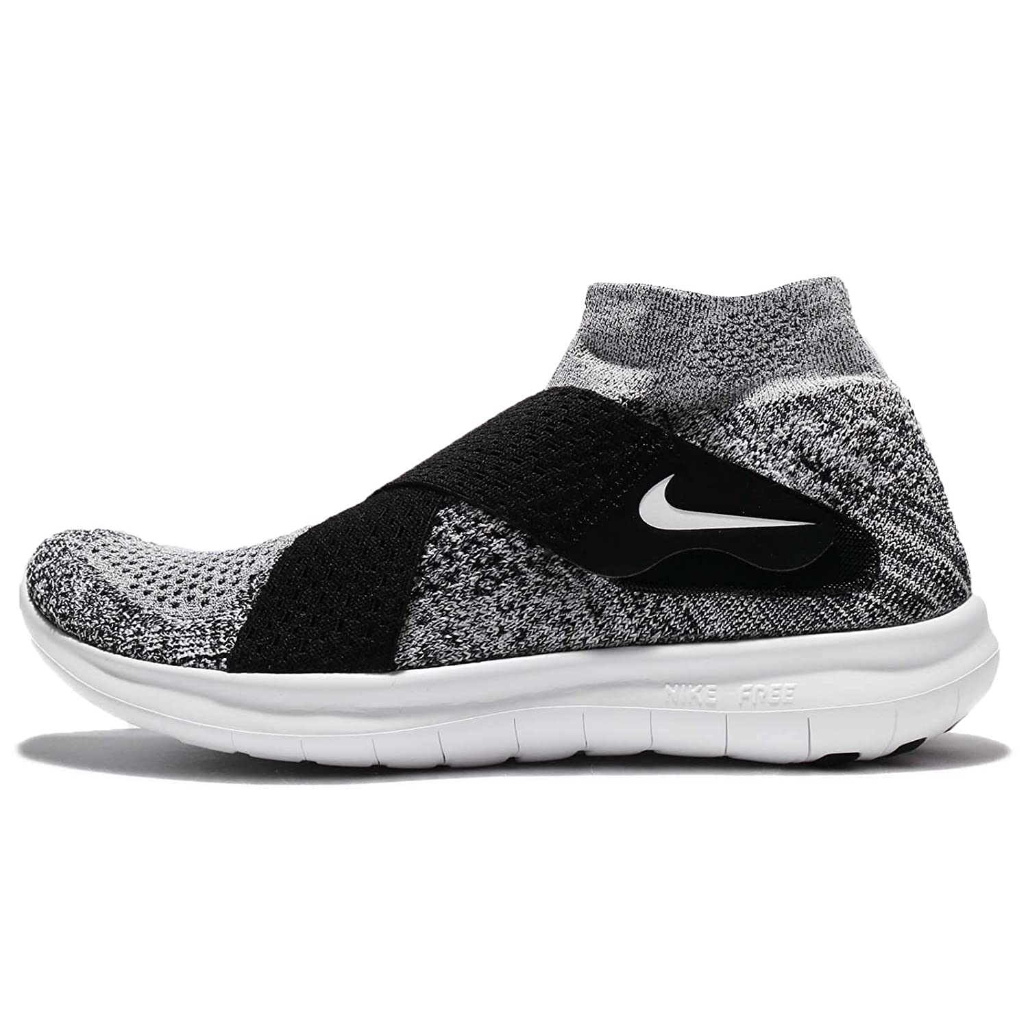 NIKE Women's Free RN Motion FK 2017 Running Shoe B00CER30WW 10 B(M) US|Grey/ Black/ White