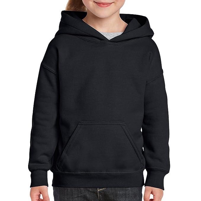 Gildan Kids Heavy Blend Hooded Sweatshirt Plain School Sports Hoody Unisex New